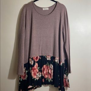 3X BE Stage Peplum Boutique Sweater